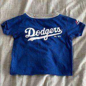 LA Dodgers short sleeve romper